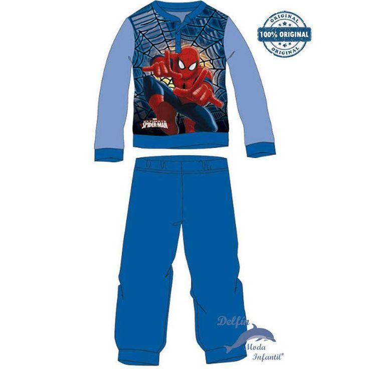 Pijama de SPIDERMAN para niño micropolar azulon en CAJA