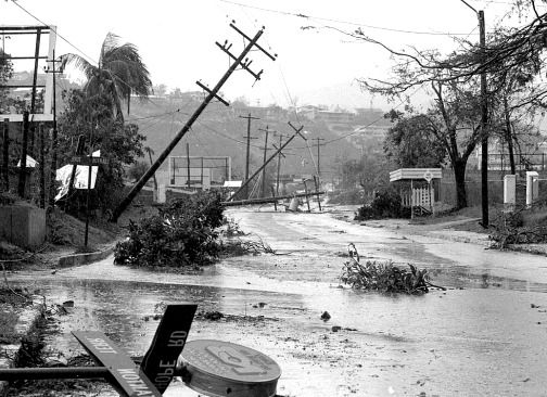 History - A picture of category 5 Hurricane Gilbert is shown above. It struck Jamaica in 1988 killing over 200 people total. 80% of homes in Jamaica were destroyed and 500,000 out of 2 million people in Jamaica were left homeless. It was a great deal in Jamaican history and hit Jamaica so hard.