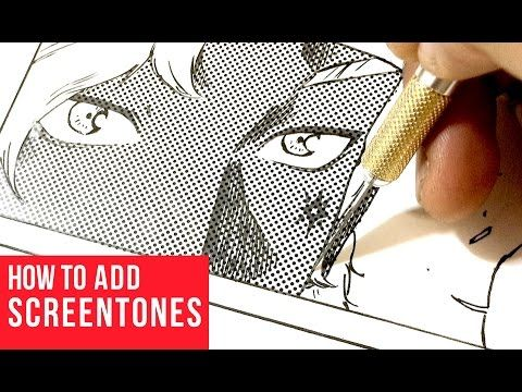 "Manga drawing lesson ""013 How to use screen tone"" - YouTube"