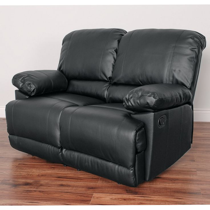 CorLiving Lea Bonded Leather Reclining Loveseat - LZY-301-L