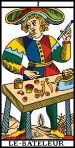 El Arcano del Día: El Mago  Es el gran ilusionista y un poderoso alquimista, que con sus cuatro palos (los cuatro elementos) a disposición puede materializar todo acto que se proponga.  Da inicio a toda la creatividad existente. Invita a actuar velozmente y nos ilusiona con la posibilidad de concretar nuestros sueños. Muestra fluidez y entusiasmo.