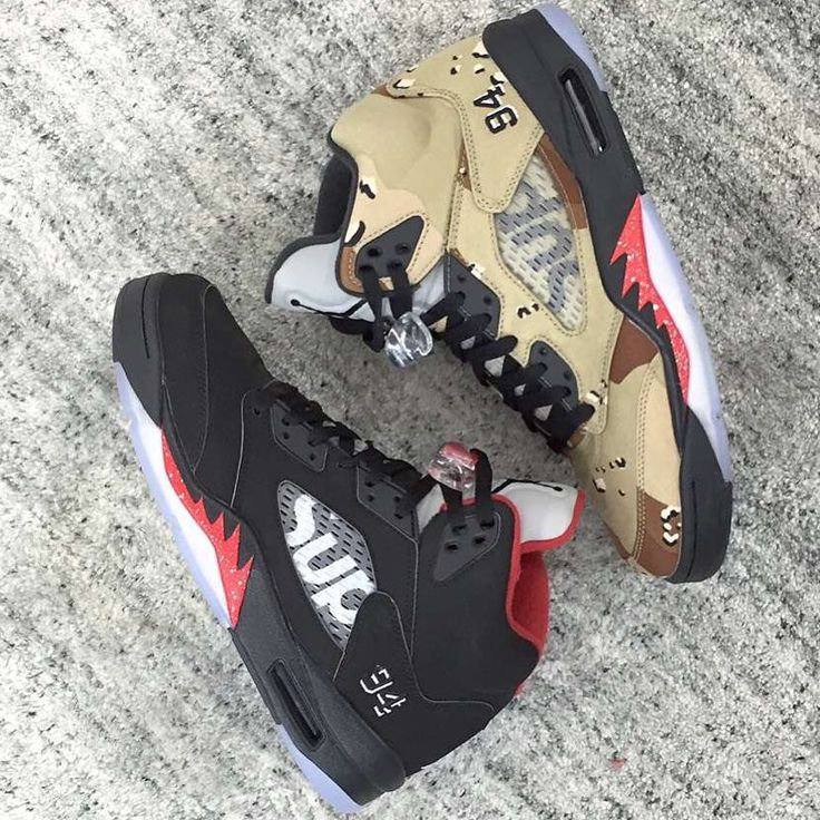 Supreme x Air Jordan V | Black & Red & Desert Camo