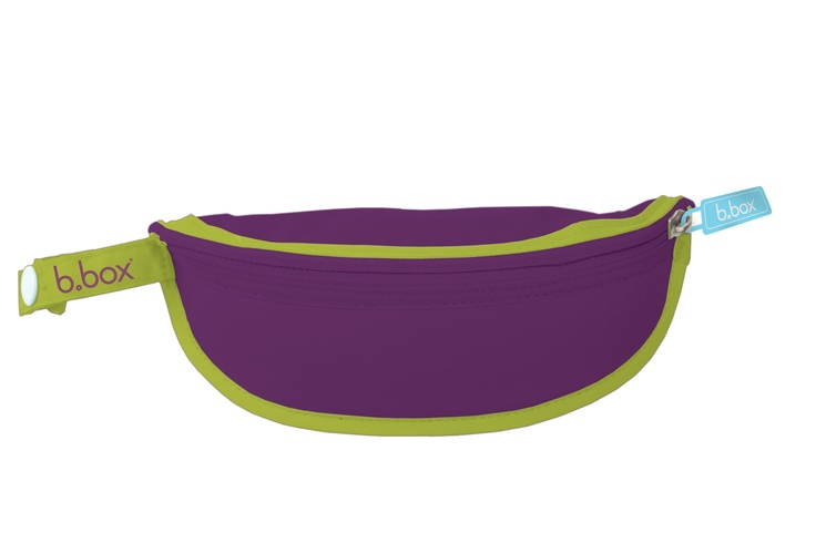 simply pop the spoon inside, fold bib back inside catcher, zip and go!