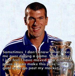 Best Quotes on football by Zinedine Zidane