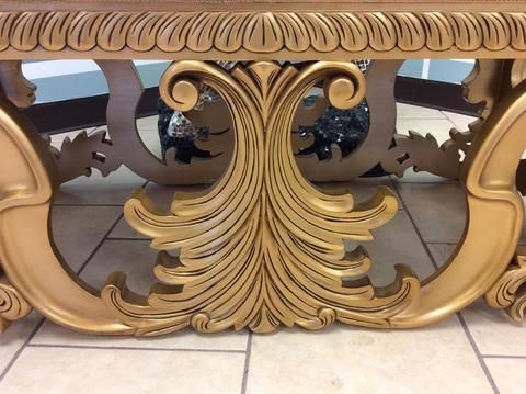 """""""Caezan"""" Acanthus Gold Leaf Louis XV Rococo French Reproduction Wedding Bench"""