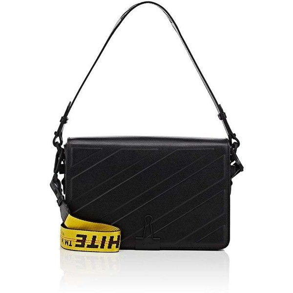 Off-White c/o Virgil Abloh Women's Binder-Clip Medium Shoulder Bag ($1,245) ❤ liked on Polyvore featuring bags, handbags, shoulder bags, black, cut out purse, long strap shoulder bags, flat purse, cut out handbag and long strap handbags