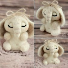 Elephant soft toy exclusive handmade felted wool Sculpture Artist in Miniature