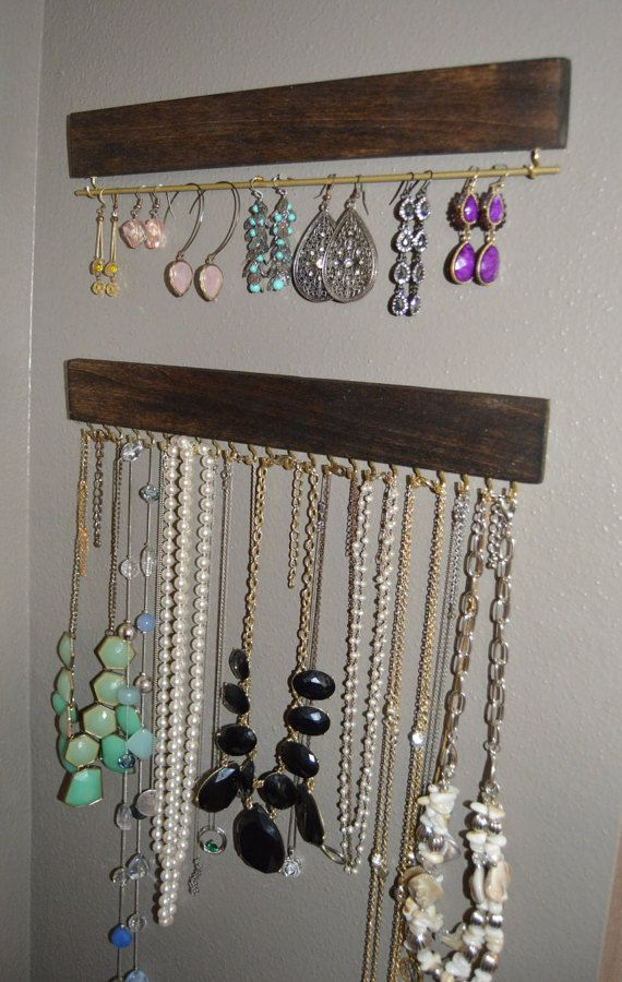finest wooden hanging jewelry organizer home decor