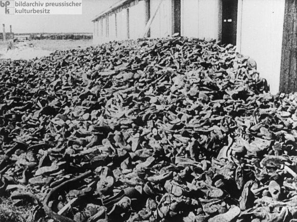 Mountain of Shoes belonging to Murdered Jewish Prisoners at the Lublin-Majdanek Concentration and Extermination Camp (1944) A total of 78,000 prisoners perished in the Lublin concentration camp, including 60,000 Jews. Lublin was liberated by the Red Army on July 23, 1944.