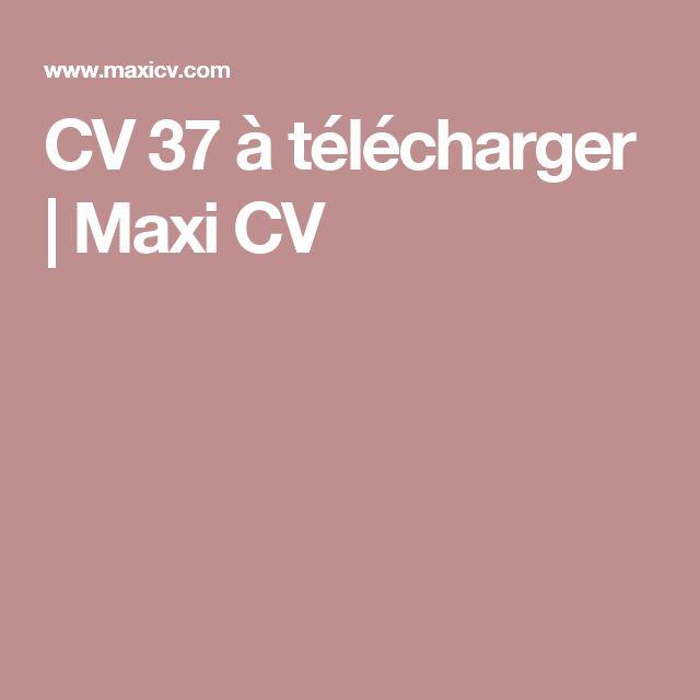 cv 37  u00e0 t u00e9l u00e9charger