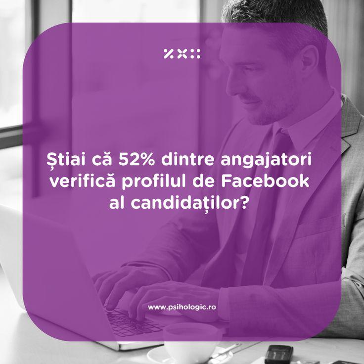 Studiile arată că activitatea personală în social media contează din ce în ce mai mult în procesul de recrutare. Aproximativ 52% din angajatori recunosc că se uită întotdeauna la prezenţa în reţelele sociale a unui potenţial angajat.