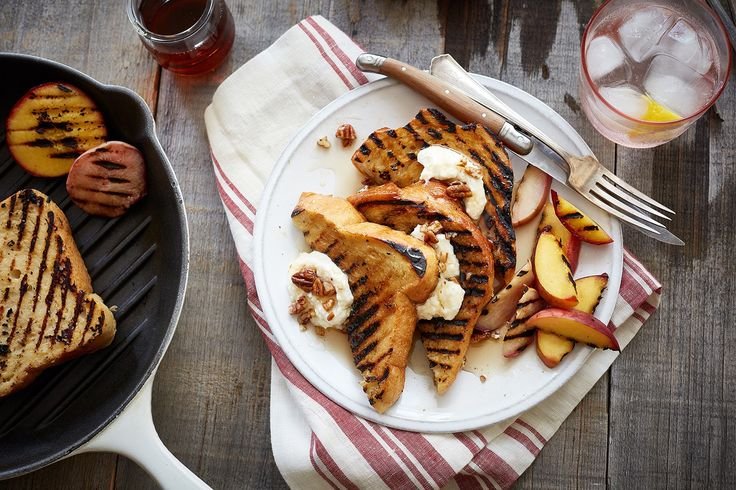 Grilled Peach, Apricot and Sweet Ricotta Layered Bread Pudding – Uteki Recipes, Food, & Cooking