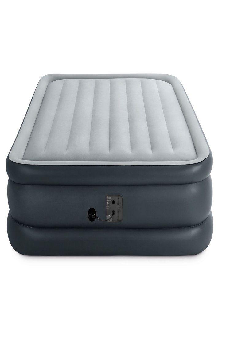 intex air mattress on intex queen dura beam 20 in inflatable bed air mattress built in electric pump 78257322480 ebay air bed air mattress camping sleeping pad pinterest