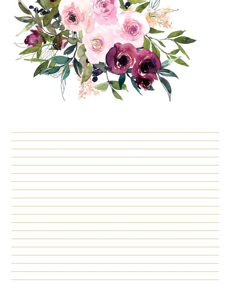 Burgundy and Blush Floral Stationery