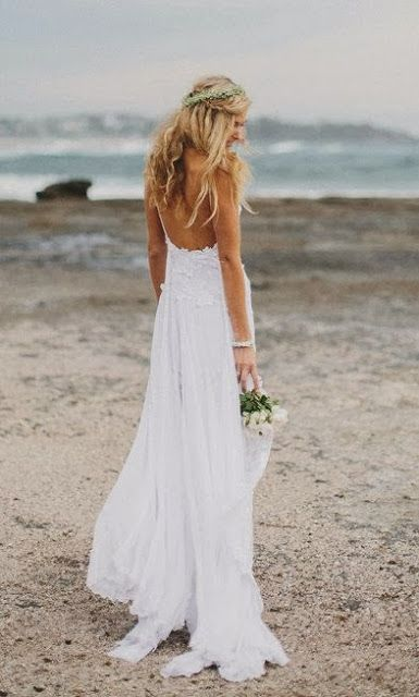 Stunning boho low back wedding dress dreamy by ... | Wedding. | See more about boho, wedding dressses and weddings.