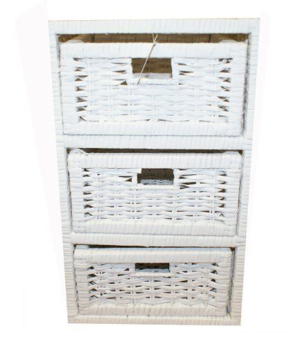 Woodluv 3 Drawer White Wicker Storage Tower Unit Home Bathroom Bedroom by ELITEHOUSEWARES, http://www.amazon.co.uk/dp/B00AKWISM0/ref=cm_sw_r_pi_dp_h77btb054QHQ8