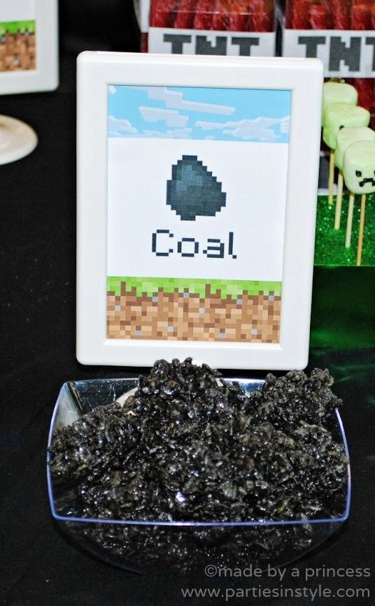 Tons of awesome Minecraft birthday party ideas from food to decor to games.