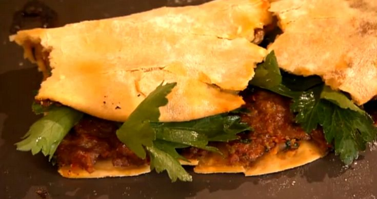 Rick Steins Turkish spicy lamb flat bread