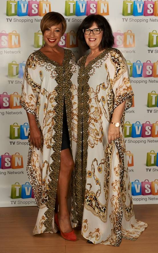 Twins!  Love my Silk Islands Kaftans.  Perfect Summer outfit always.