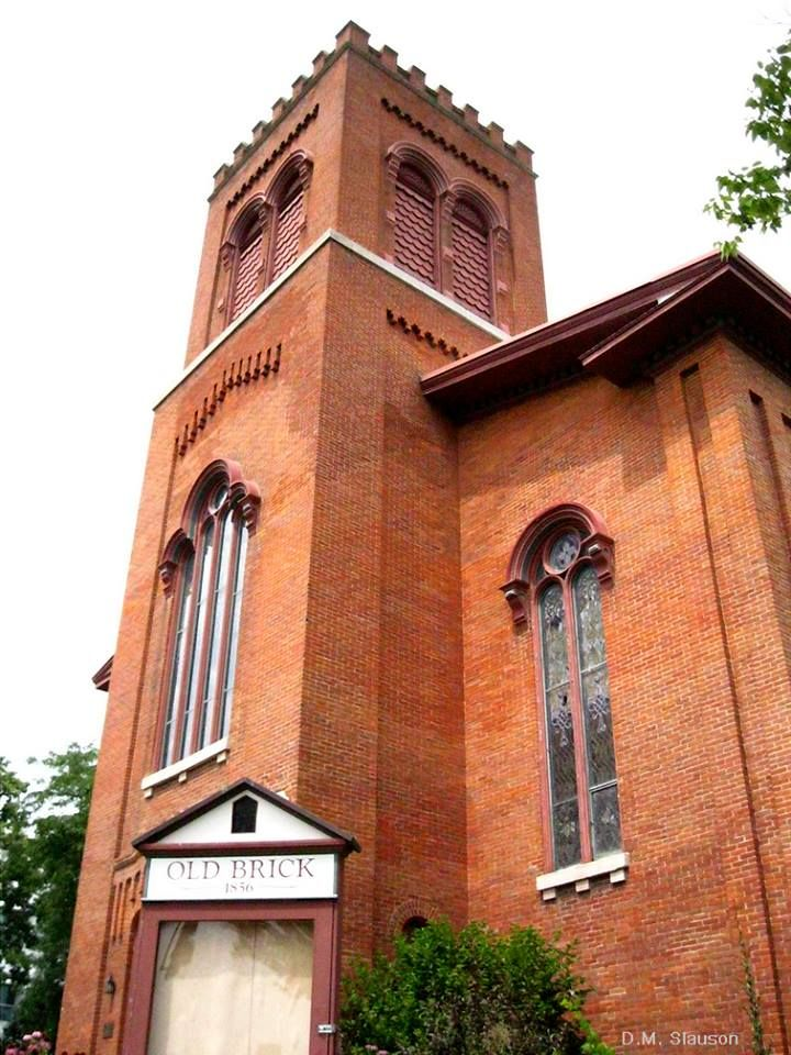 Old Brick, formerly the North Presbyterian Church, Iowa City. The church  originally had