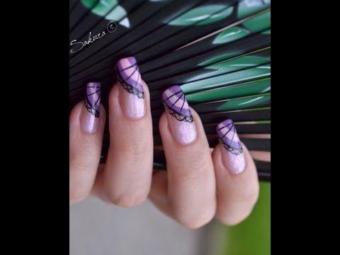 Nail Art Eventail - Asian Nail Art #nailart #tutorial