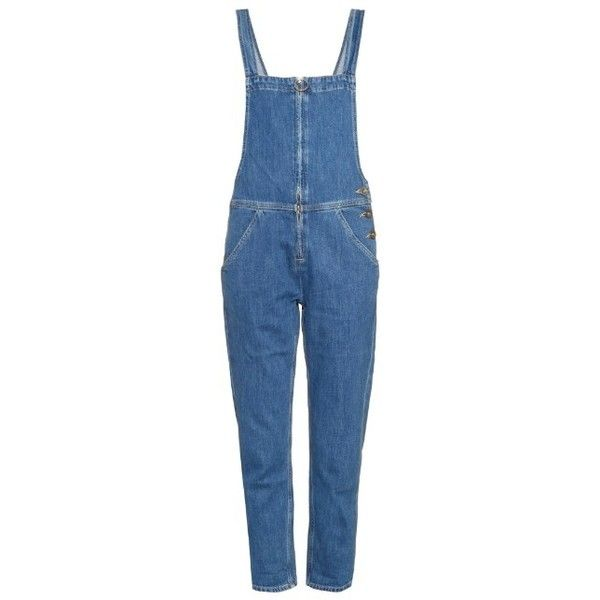 M.i.h Jeans Phalle denim dungarees found on Polyvore featuring jumpsuits, jeans, overalls, bottoms, pants, denim, denim dungaree, overalls jumpsuit, denim overalls and dungaree overalls