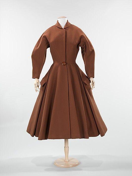 "1951 Charles James ""Cossack"" wool coat"
