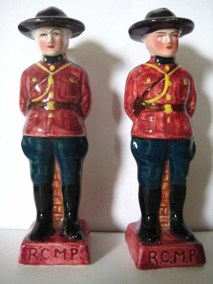 RCMP Salt and Pepper Shakers - 1965