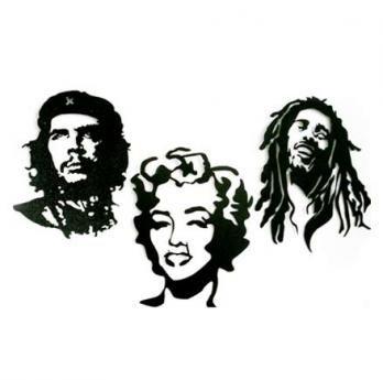 Che, Marilyn and Bob (S)35 cm H x 20 cm W $45.000 (M)40 cm H x 25 cm W $65.000 (L)70 cm H x 40 cm W $120.000