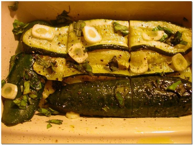 Zucchine Arrosto - Roast Zucchini at http://www.blogher.com/frame.php?url=http://exploringsilverspoon.blogspot.com/2006/10/zucchine-arrosto-roast-zucchini.html