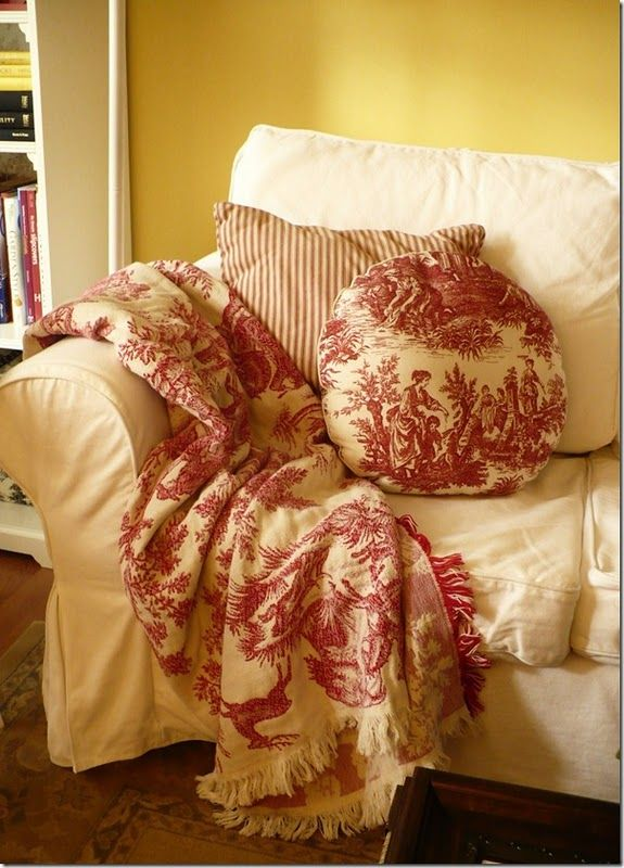 Beautiful Toile Throw Toile Pinterest Beautiful