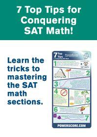 PowerScore® SAT Preparation | 7 top tips for conquering SAT math