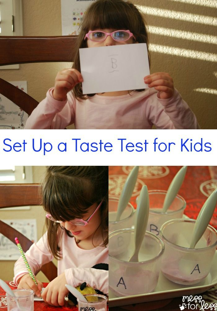 Set Up a Taste Test for Kids - Kids have so much fun tasting food and sharing their opinions. #TasteOff #sponsored