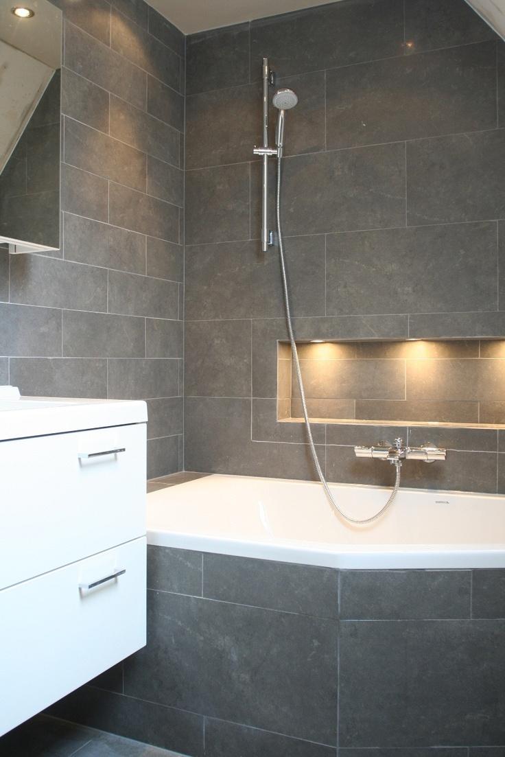 Nisje Boven Het Bad Met Verlichting Badkamer Idee 235 N