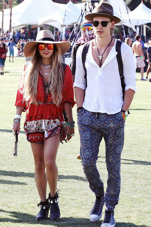 The queen and the king of Coachella      Austin Butler and Vanessa Hudgens