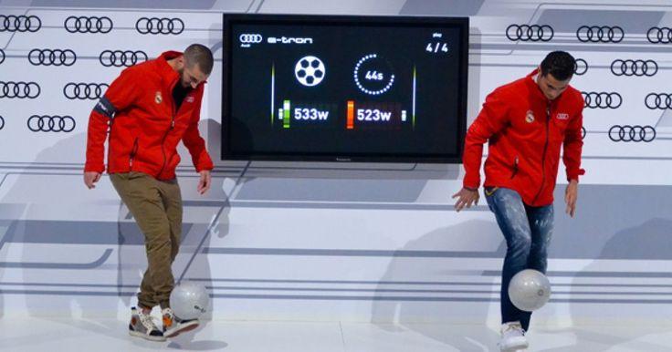 """Los jugadores del Real Madrid fueron puestos a prueba por la compañía Audi, antes de recibir sus nuevos carros de lujo, que la empresa misma les patrocina, sin embargo, como es de esperarse, un equipo debía perder y para el humor de Cristiano Roaldo, esto no le pareció nada gracioso y soltó una frase que muchos criticaron: """"Equipo mierda con el que me ponen"""", a lo que varios de sus compaeros entre ellos Chichrito, soltaron tremenda carcajada, burlándose del mal perdedor."""