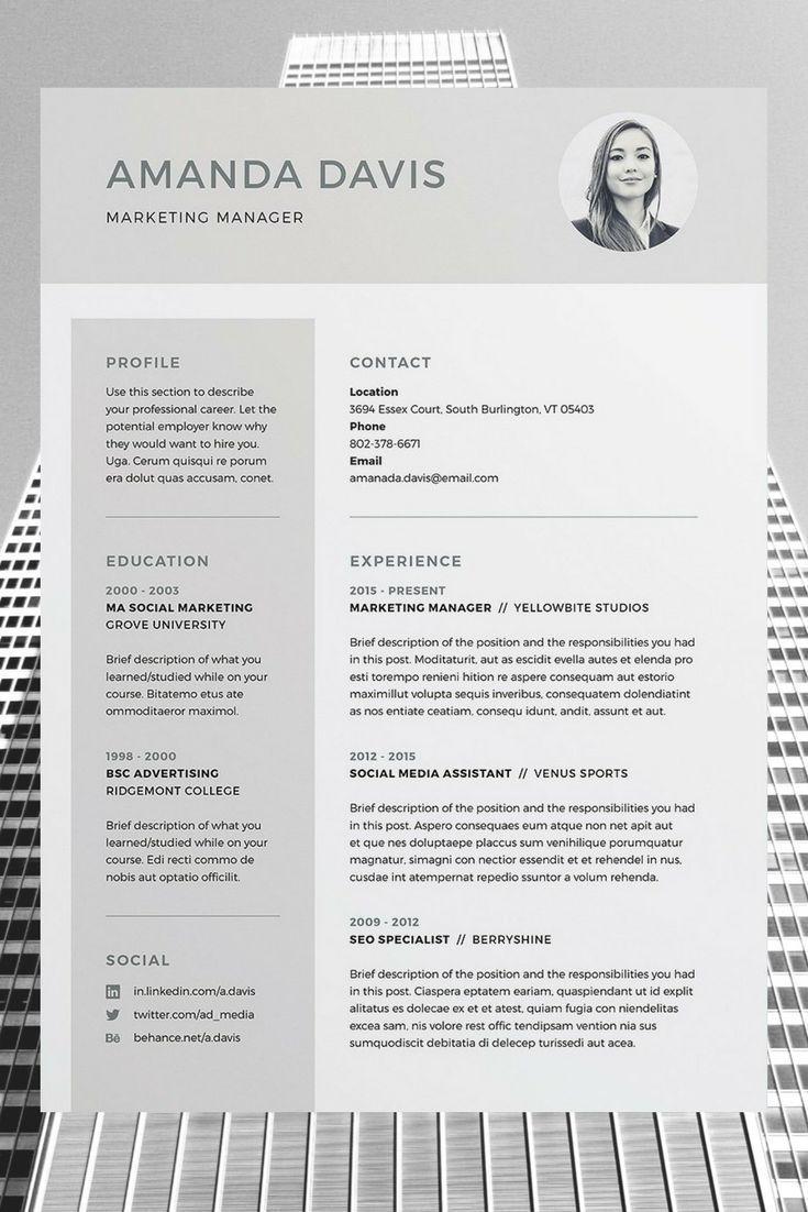 Cv Template Lebenslauf Vorlagen Lebenslauf Indesign Vorlagen