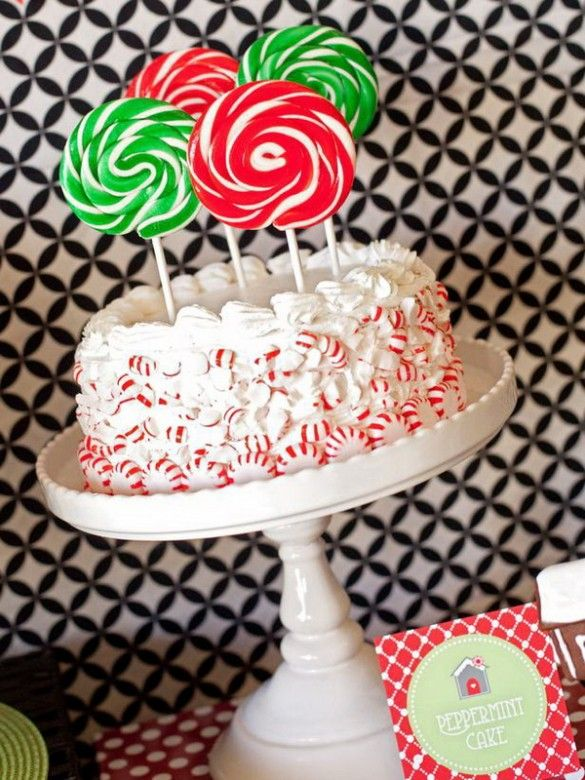 Christmas creative sweets and deserts ideas – Lollipop candy cake
