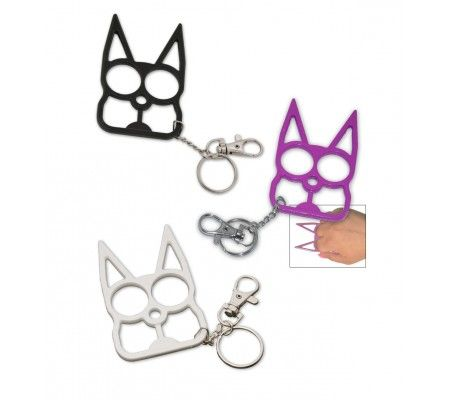 Cat Self Defense Keychain - Various colors.  Poor little kitty...wouldn't hurt anything at all.  ;)