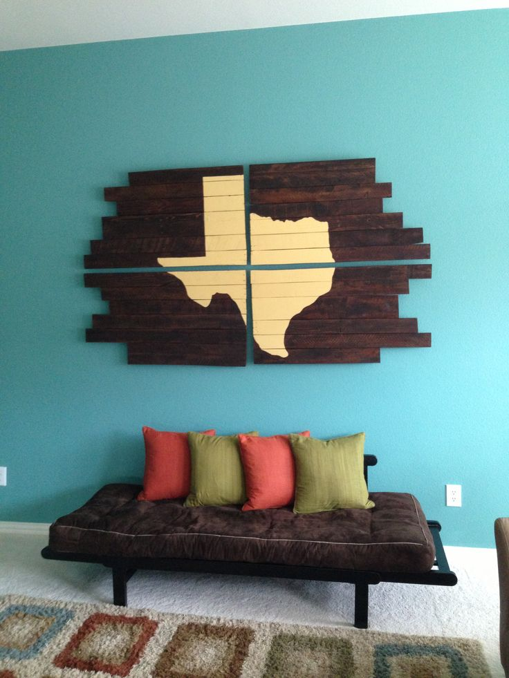 Pottery Barn has a very similar piece of art that looks like this...Only it is USA instead of Texas...I wonder if I could do this!