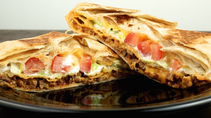 Crunchwrap Supreme (make with beans instead of meat for vegetarian version!!)