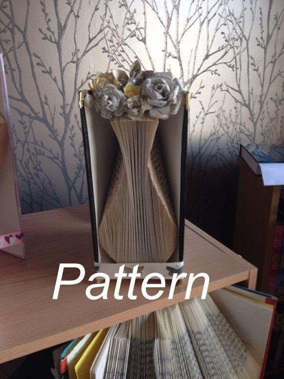 Vase Book Folding Pattern by SmartCraftBySuzanne on Etsy