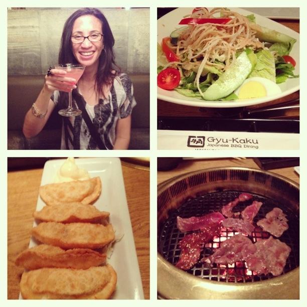 Bistro Hanger Steak Miso, Cheese Wonton, Gyu-Kaku Salad @ Gyu-Kaku ...