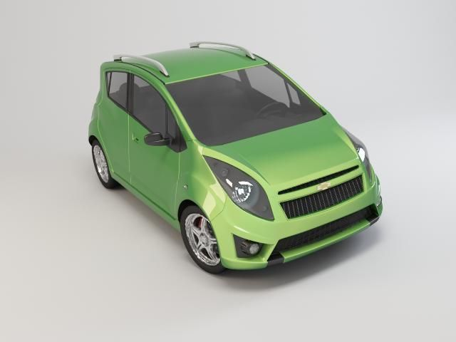 Chevrolet Spark 2010 3D Model- 2010 Chevy Spark model, Vray is required for materials. - #3D_model #Sport