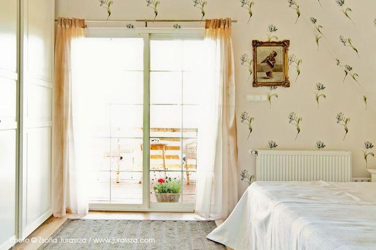 Terrace door in sleeping room