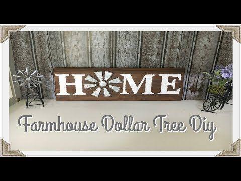DIY FARMHOUSE DECOR// DOLLAR TREE HOME SIGN – YouTube