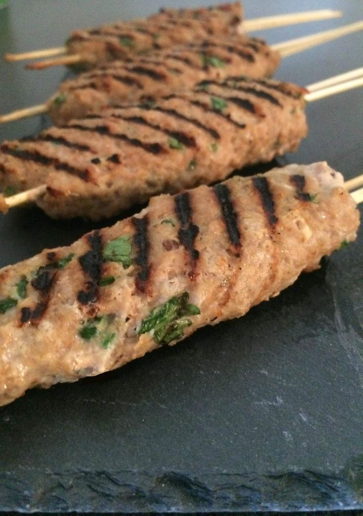 Grillspyd med spicy økologisk hakket svinekød