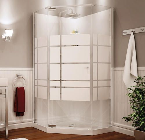 sterling neo angle shower kits