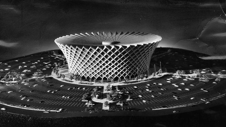 Original Model Plan For The Great Western Forum Inglewood