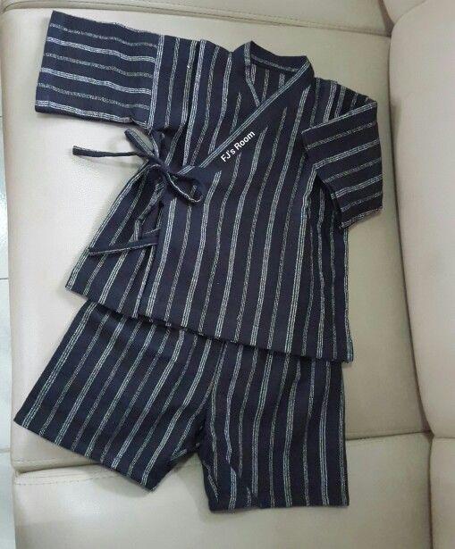 black n white stripe jinbei for 2y boy